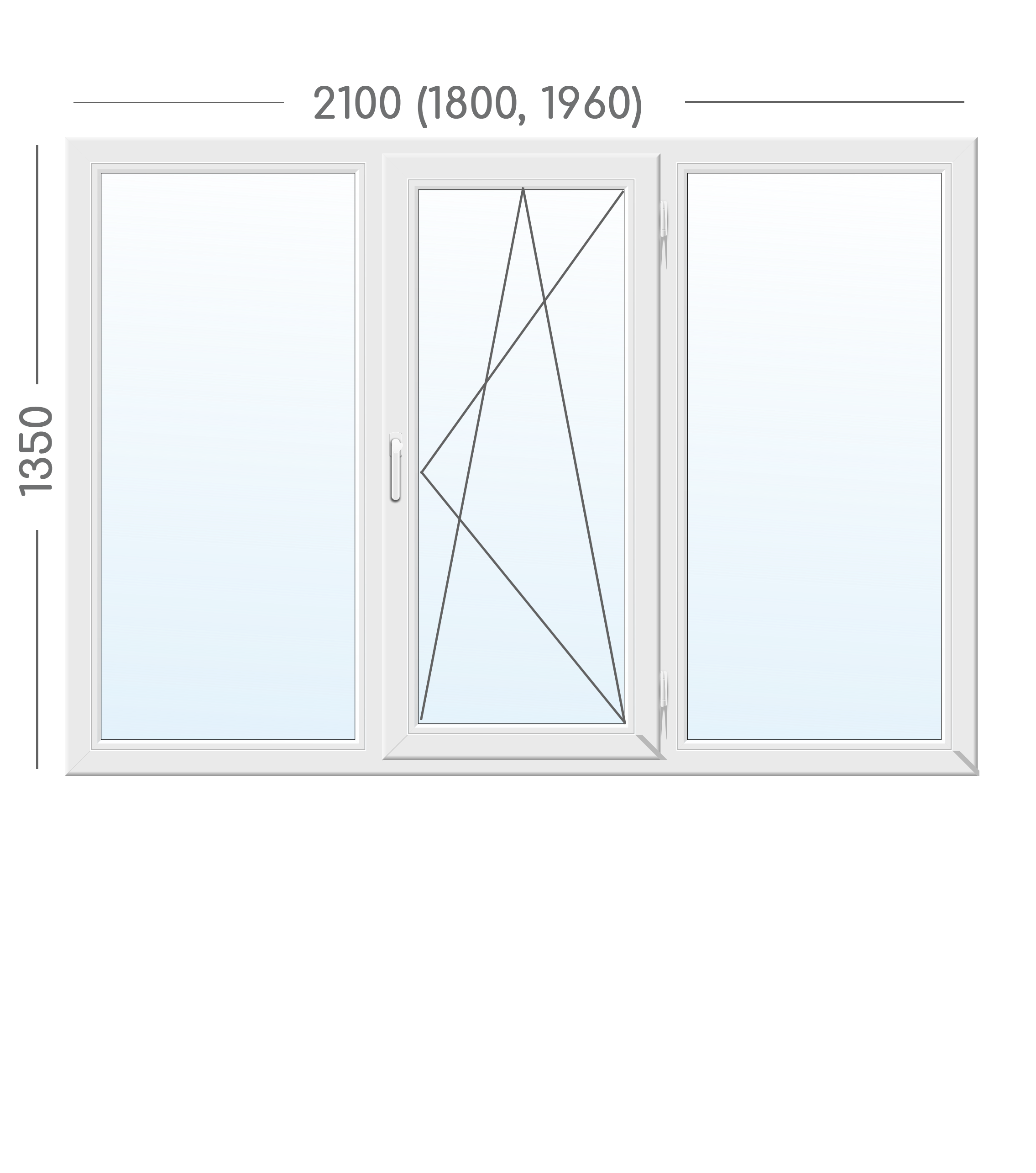 Окно WDS 8 серия с фурнитурой ROTO NT (Германия)