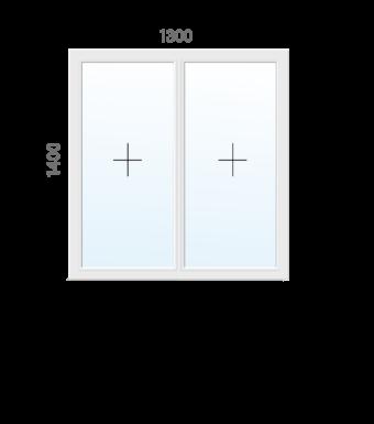 Вікно Rehau 1300х1400