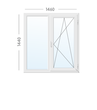 Окно Aluplast-1460х1440