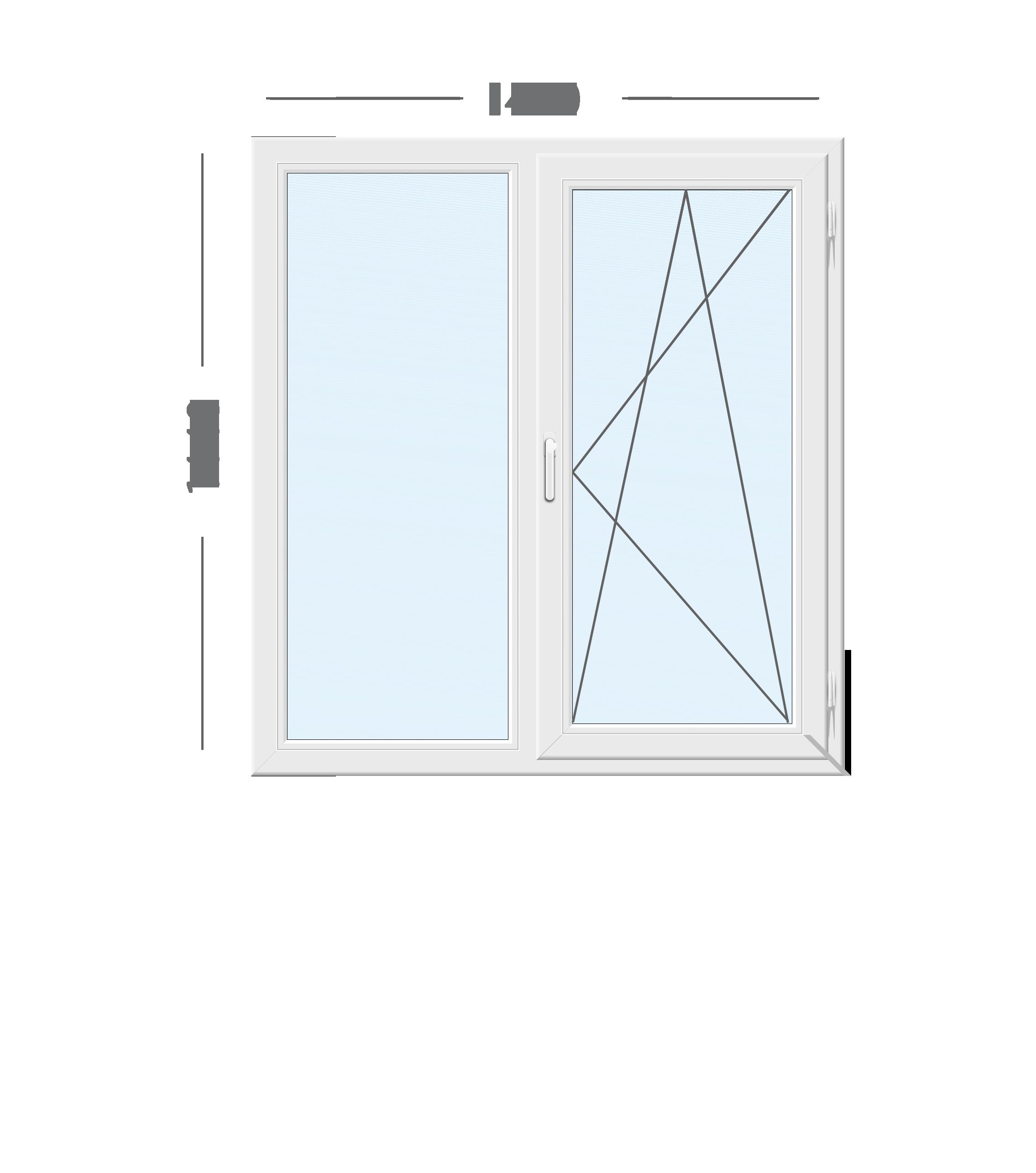 Вікно Rehau 1460х1440