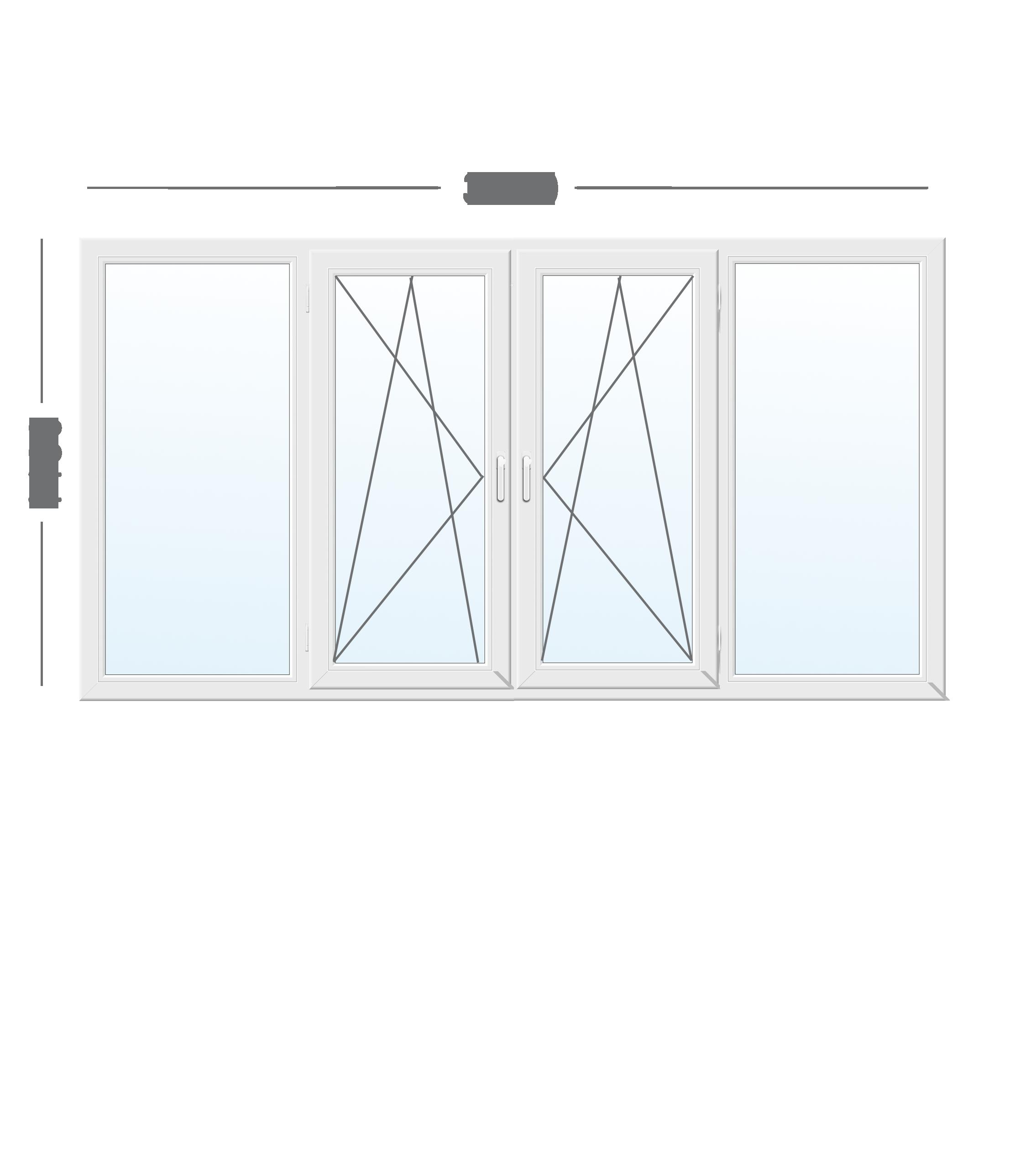 Рама балконная WDS Galaxy с фурнитурой VORNE (Турция)