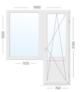 Окно Блок Aluplast-1880х2140